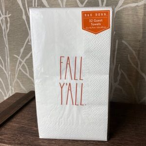 RAE DUNN FALL Y'ALL GUEST NAPKINS HTF NEW 2020 RD
